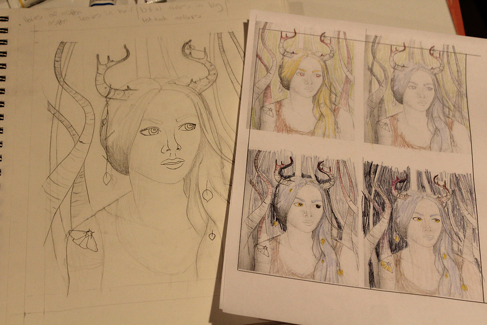 Painting process fantasy illustration