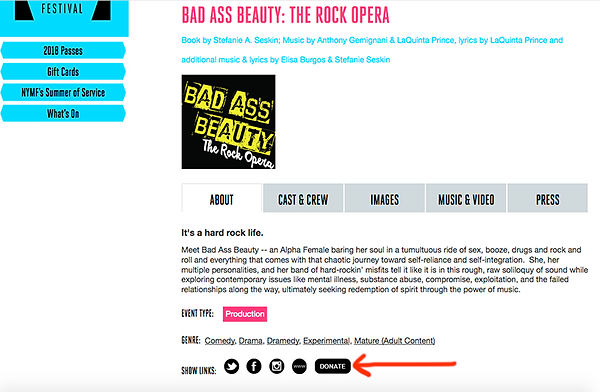 Donate to BaB Rock Opera on NYMF page