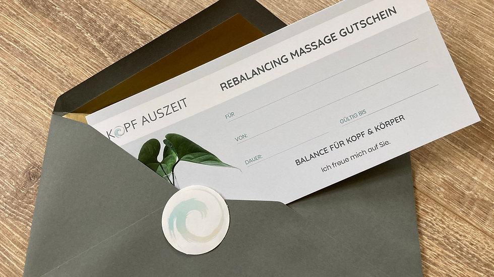 GUTSCHEIN für eine Rebalancing Massage