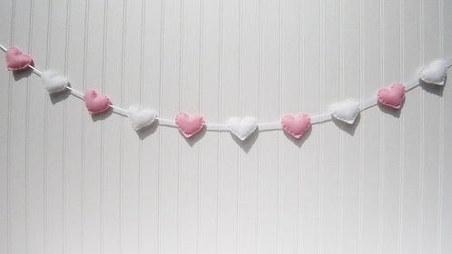 Garland - pink and white