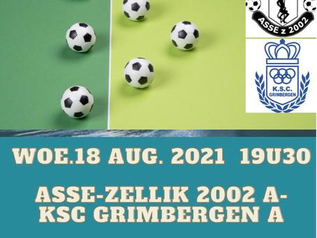Match woensdag 18 augustus