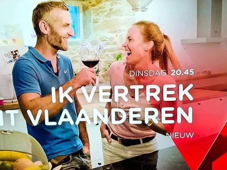 Mario Berlanger en Julie op 'Ik vertrek' op VTM