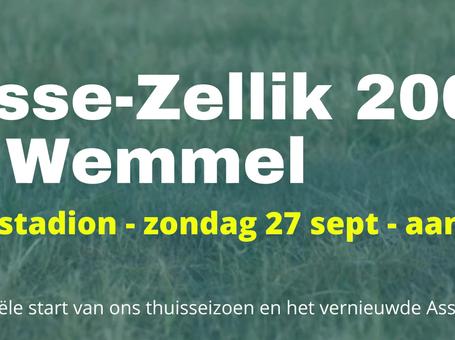 Selectie eerste thuiswedstrijd FC Asse-Zellik A, zondag 27/09 om 15u