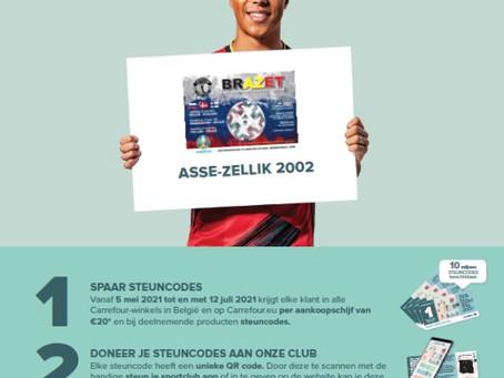 Steun onze club bij Carrefour!