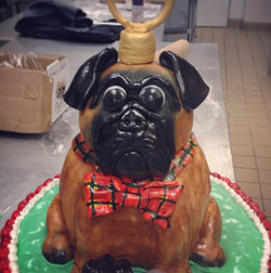 Sculpted Dog Ornament Cake