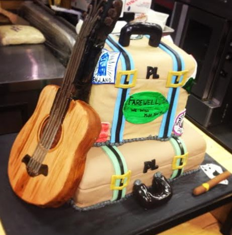 Sculpted Suitcase Cake