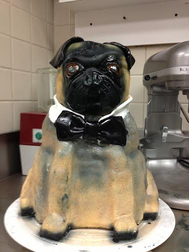 Sculpted Pug Cake