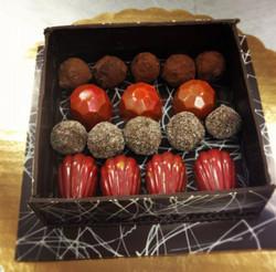 Chocolate Truffles in Chocolate Box