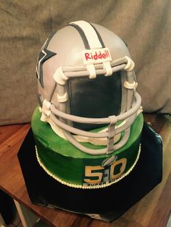 Cowboys Helmet Cake