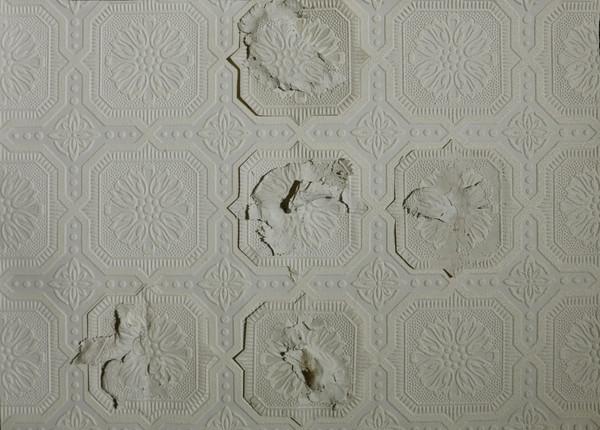Work in progress - porcelain and wallpaper