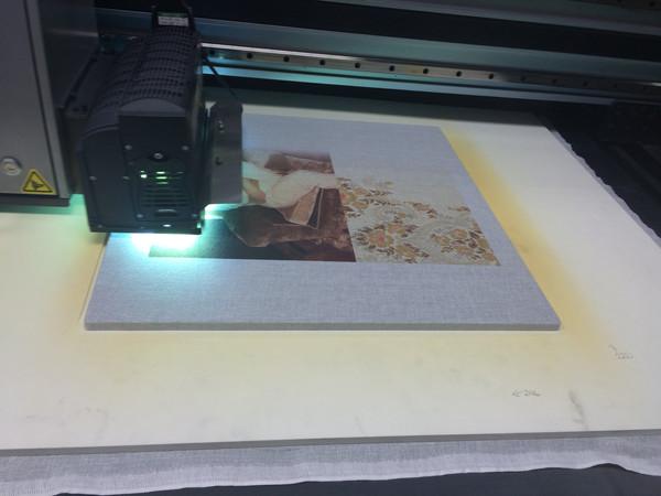 Printing on muslin fabric