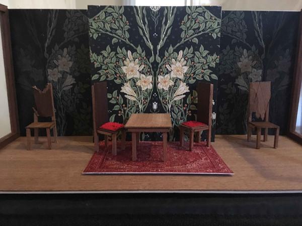 Set Design for Performance coursework - Undertones Alice Gerstenberg 1915 set in progress