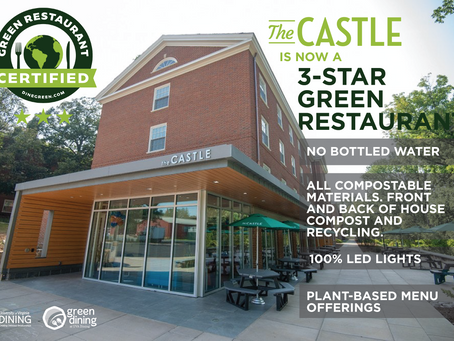 The Castle becomes a 3 Star Certified Green Restaurant®