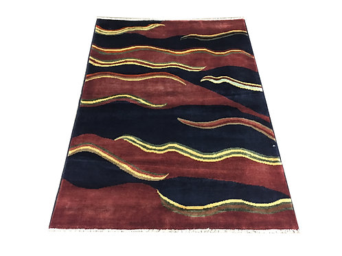 """10274 Contemporary 3' 5"""" X  4' 9"""" Wool Afg Area Rug"""