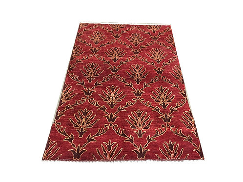 """10681 Contemporary 3' 3"""" X  5' 0"""" Wool Afg Area Rug"""
