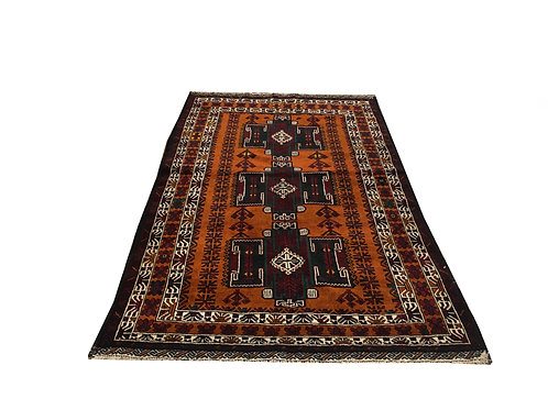 "10009 Belluchi 3'11"" X  6' 5"" Wool Pakistani Area Rug"
