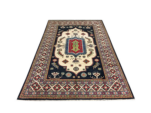 "10708 Kazak 6' 6"" X 10' 7"" Wool Pakistani Area Rug"