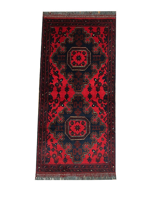 "10978 Turkishkmen 1'11"" X  3'10"" Wool Afg Area Rug"