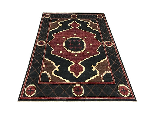 "10951 Oushak 6' 5"" X  9' 6"" Wool Pakistani Area Rug"