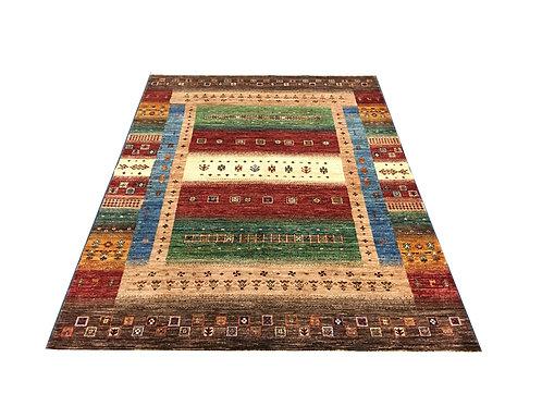 "10372 Tribal 5' 1"" X  7' 0"" Wool Afg Area Rug"