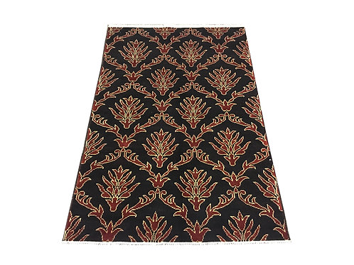 """10192 Contemporary 3' 3"""" X  4'11"""" Wool Afg Area Rug"""