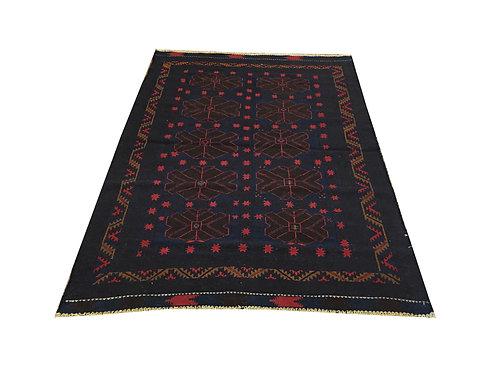 """10503 Mush Kilim 4' 3"""" X  5'11"""" Wool Pakistani Area Rug"""