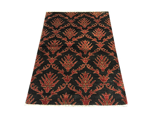 """10444 Contemporary 3' 4"""" X  4'11"""" Wool Afg Area Rug"""