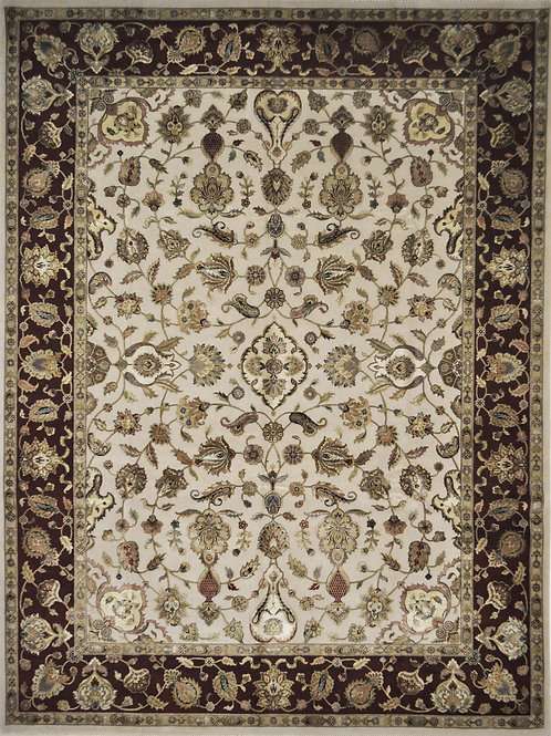 """4113 AURORA 9' 2"""" X 12' 1"""" Wool & Silk"""