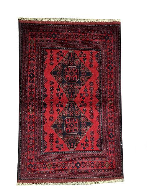 "10676 Turkishkmen 3' 2"" X  4'10"" Wool India Area Rug"
