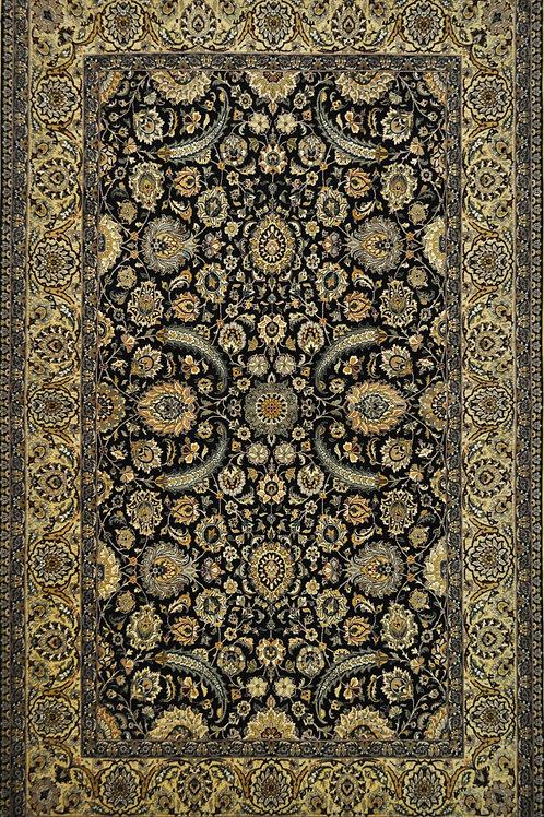 """6199 HAREM  6' 0"""" X  10' 0"""" Wool & Artificial Silk"""