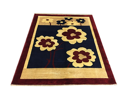 """10524 Contemporary 4' 9"""" X  6' 4"""" Wool Afg Area Rug"""
