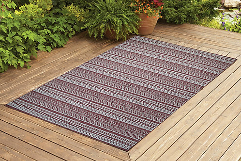 Contemporary Indoor/Outdoor Sisal Area Rug Stripes Collection