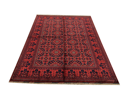 "10095 Kunduz 5' 8"" X  7'10"" Wool Afg Area Rug"