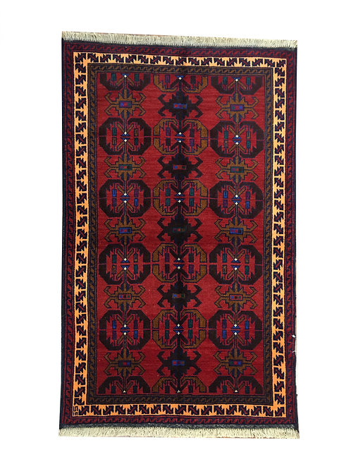 "10351 Belluchi 2' 9"" X  4' 6"" Wool Afg Area Rug"