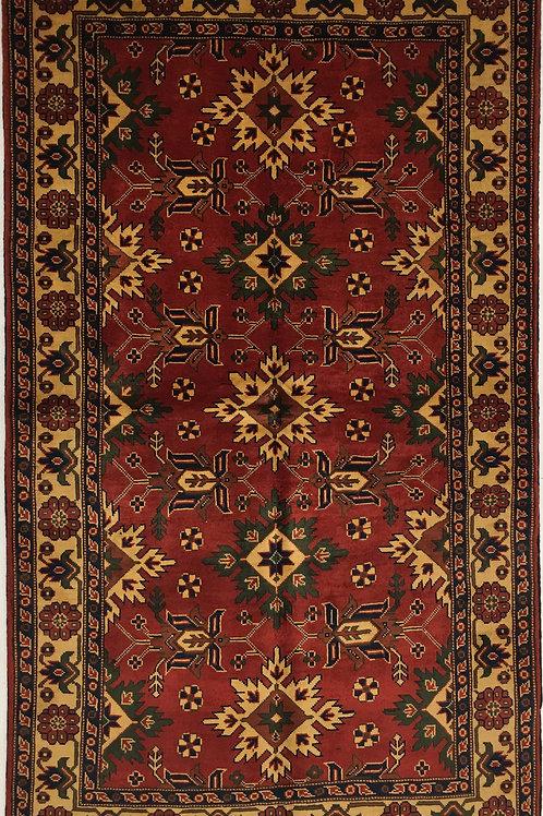 """6636 TURKMEN 3' 10"""" X 6' 5"""" Wool"""