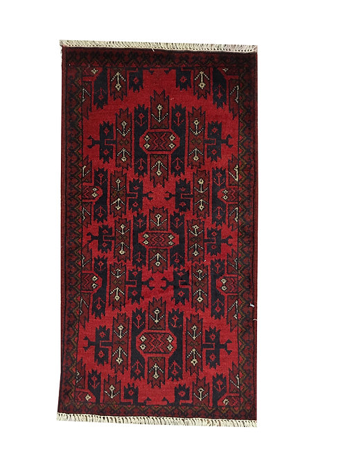 "10006 Turkishkmen 1' 8"" X  3' 3"" Wool Afg Area Rug"