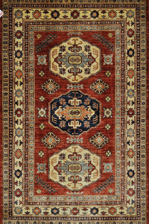 """1192 KAZAK 4' 7"""" X 7' 3"""" Wool"""