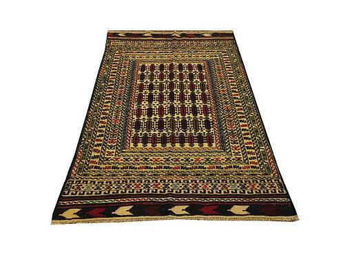 """10915 Sumak Kilim 4' 0"""" X  6' 4"""" Wool Pakistani Area Rug"""