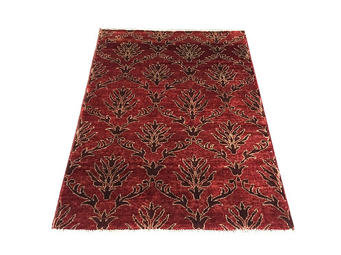 "10454 Contemporary 3' 5"" X  4' 9"" Wool Afg Area Rug"
