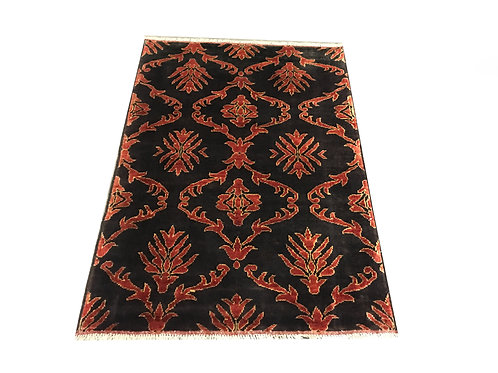 """10080 Contemporary 3' 5"""" X  4'10"""" Wool Afg Area Rug"""