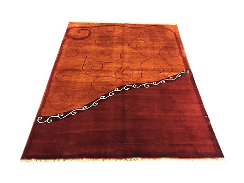 """10764 Contemporary 4'11"""" X  6' 6"""" Wool Afg Area Rug"""
