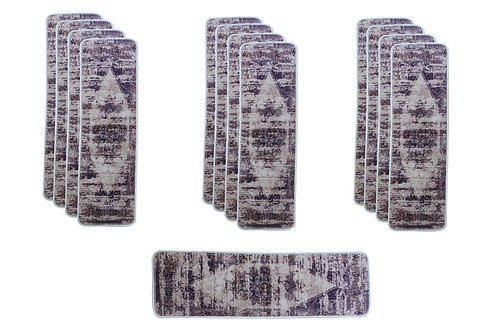 Benissimo Mirage Collection Modern, Printed Stair Treads 13 Pcs