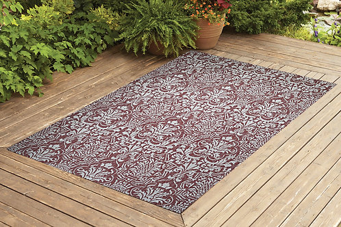 Contemporary Indoor/Outdoor Sisal Area Rug Flower G. Collection