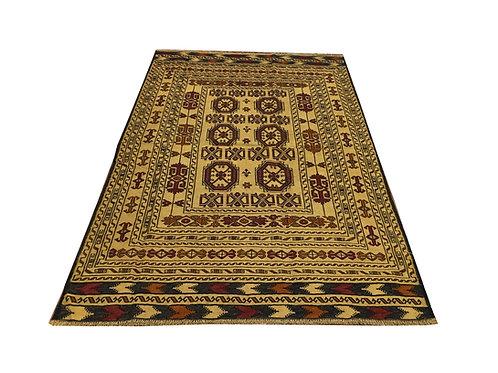 """10473 Sumak Kilim 4' 3"""" X  6' 4"""" Wool Pakistani Area Rug"""