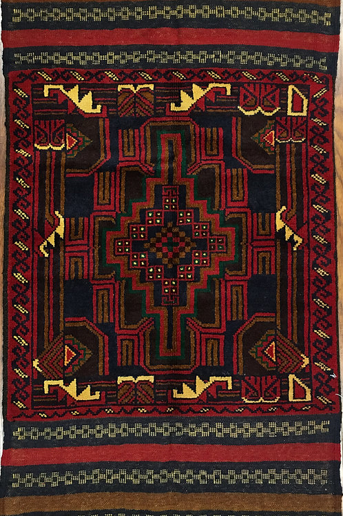 "10656 Belluchi 2' 5"" X  4'11"" Wool Pakistani Area Rug"