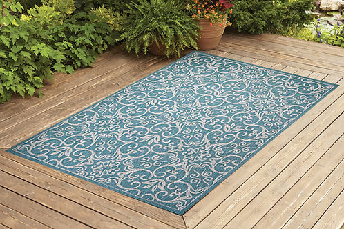 Contemporary Indoor/Outdoor Sisal Area Rug Rams Horn Collection