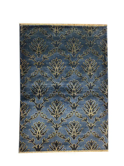 "10551 Contemporary 3' 4"" X  4' 9"" Wool Pakistani Area Rug"