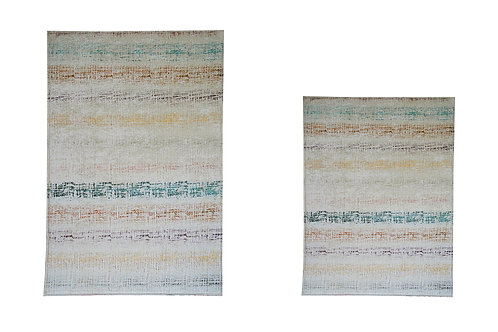 Benissimo Bath Mat Modern Collection Printed Design Vibrant and Soft Mats 2'4'X3
