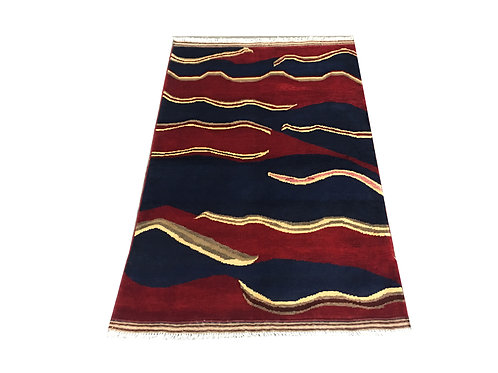 """10078 Contemporary 3' 3"""" X  4'10"""" Wool Afg Area Rug"""