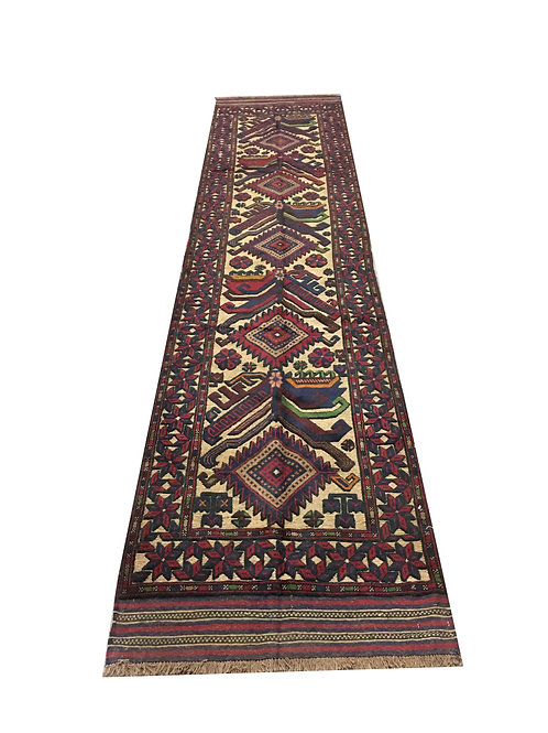 "10772 Belluchi 2' 8"" X 12' 5"" Wool Afg Area Rug"